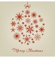 Hanging christmas ball from red snowflakes on vector image