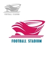 Modern football or soccer stadium icon vector image