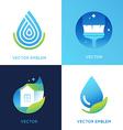 set of logo design templates in bright gradient vector image