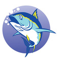 tuna in deep blue sea vector image
