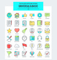 universal basic icons vector image