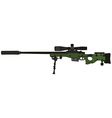 Green sniper rifle vector image