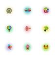 Swing icons set pop-art style vector image