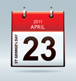st Georges day calendar icon vector image