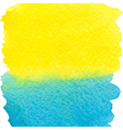 yellow and blue watercolor squarer background vector image vector image