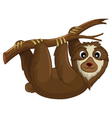 funny monkey cartoon hinging in the branch vector image