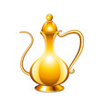 Antique arabic jug isolated on white vector image