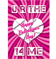 background with hearts Valentines Day vector image