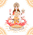 banner laxmi indian vector image