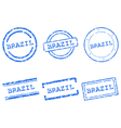 Brazil stamps vector image