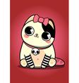 Emo kitten vector image