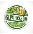 logo for st patricks day vector image