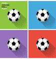 Pixel soccer ball vector image