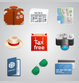 set traveler icons vector image