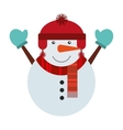 snowman christmas character isolated icon vector image