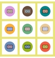 flat icons Halloween set of cookies concept on vector image
