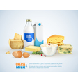 Milk Products Template vector image vector image