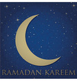Crescent moon for Ramadan vector image