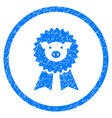 pig award seal rounded grainy icon vector image