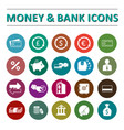 money bank icons vector image