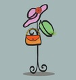 fashion Hat and accessory vector image
