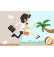 Businessman relax vector image vector image