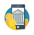 Mobile banking icon vector image vector image