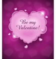 pink glamour heart cloud vector image