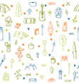 I love camping Hand drawn hike seamless pattern vector image