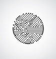 abstract computer circuit board monochrome vector image