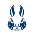 abstract rabbit face logo template vector image