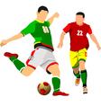 al 0942 soccer 07 vector image