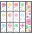 Calendar 2016Colored snowflakes shapesmandala vector image