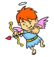 Cupid aiming at something cartoon vector image