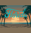 florida sunset vector image