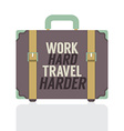 Single Travelling Suitcase Flat Design vector image