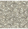 wave background of doodle drawn lines vector image