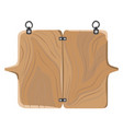 Wooden board with fastener vector image
