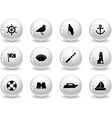 Web buttons seaside icons vector image