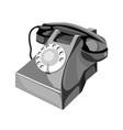 Telephone Retro Style vector image