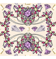 Seamless jewelery necklace kaleidoscope pattern vector image vector image