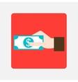 giving money icon vector image vector image