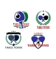 Table Tennis emblems or badges vector image vector image