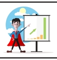 Successful hero businessman vector image