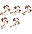 Cartoon Character Cute Hunting Dog vector image