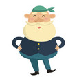 cartoon sea captain on a white background vector image