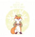 fox travel vector image