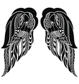 Hand drawn angel wings vector image