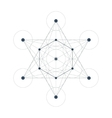 Metatrons Cube sacred geometry vector image