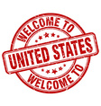 welcome to United States vector image